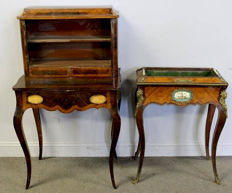 Antique French Ladies Desk and Ormalou Mounted by Clarke Auction   Bidsquare - Antique French Ladies Desk And Ormalou Mounted By Clarke Auction