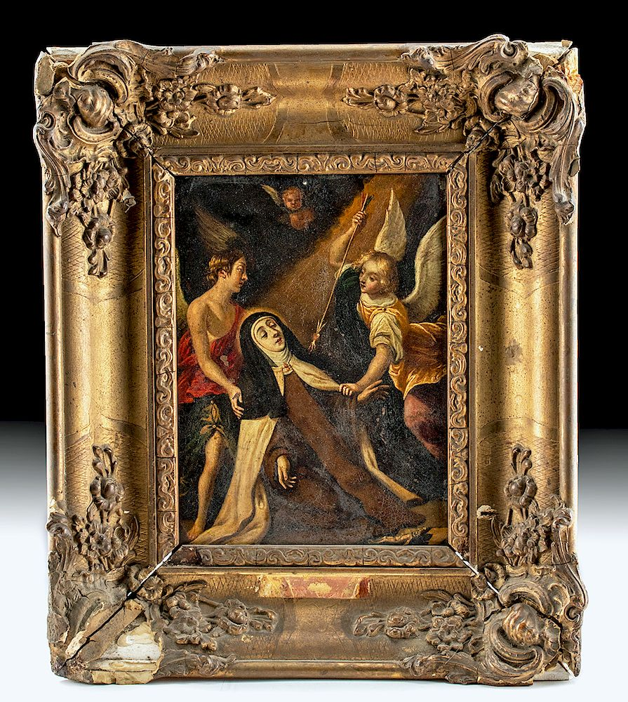 17th C Spanish Flemish Painting Ecstasy Of St Teresa For Sale At Auction On 12th December Bidsquare