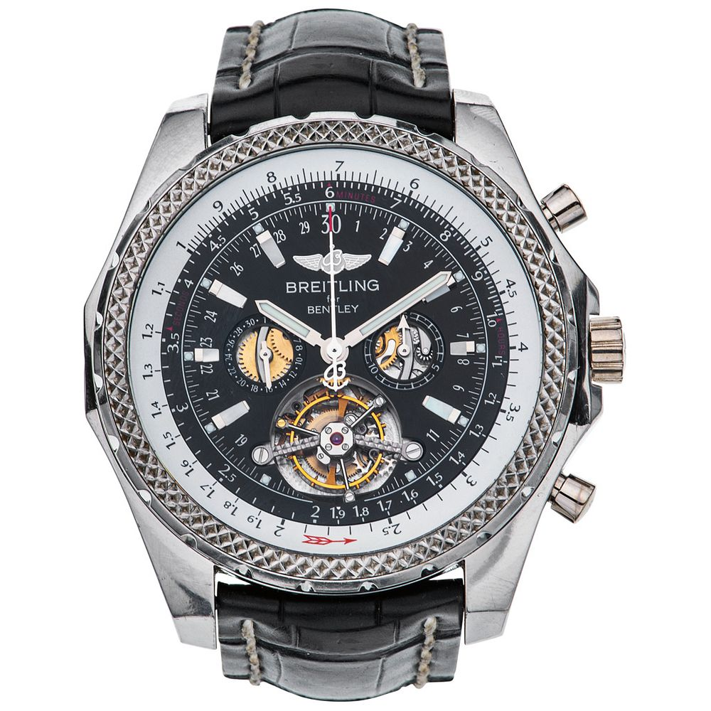 Breitling Bentley Mulliner Tourbillon Platinum And 18k White Gold