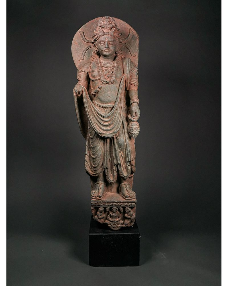 Gandhara Schist Stone Standing Buddha By Pax Romana Auctions Ltd 1729508 Bidsquare