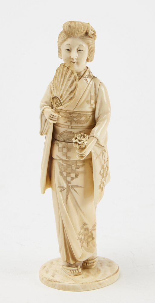 Japanese Carved Figure Of A Geisha 19th Century By New Haven Auctions 1768322 Bidsquare