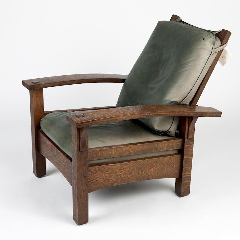 An Oak Morris Chair, Warren Hile Studio By John Moran Auctioneers |  Bidsquare