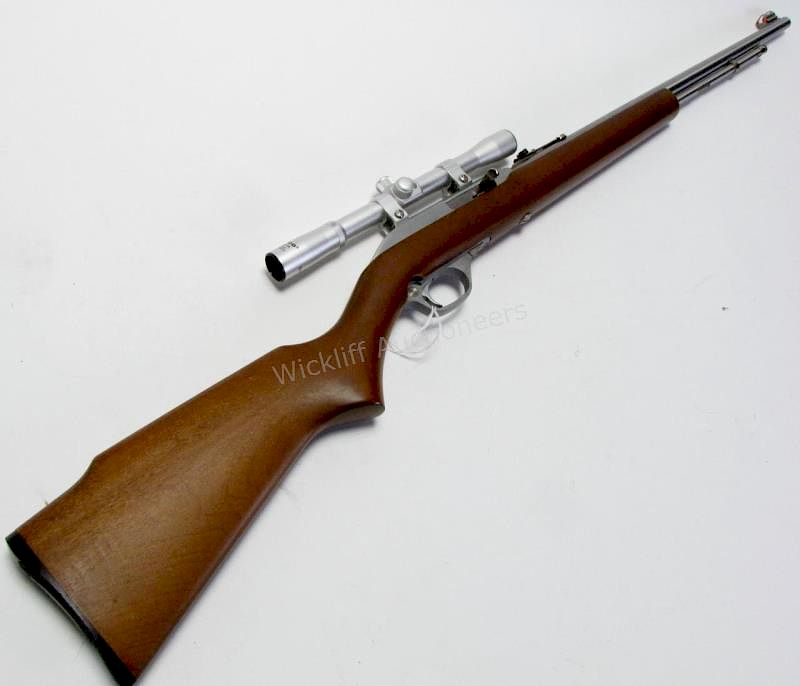 marlin model 60 sb rifle with scope by wickliff auctioneers bidsquare
