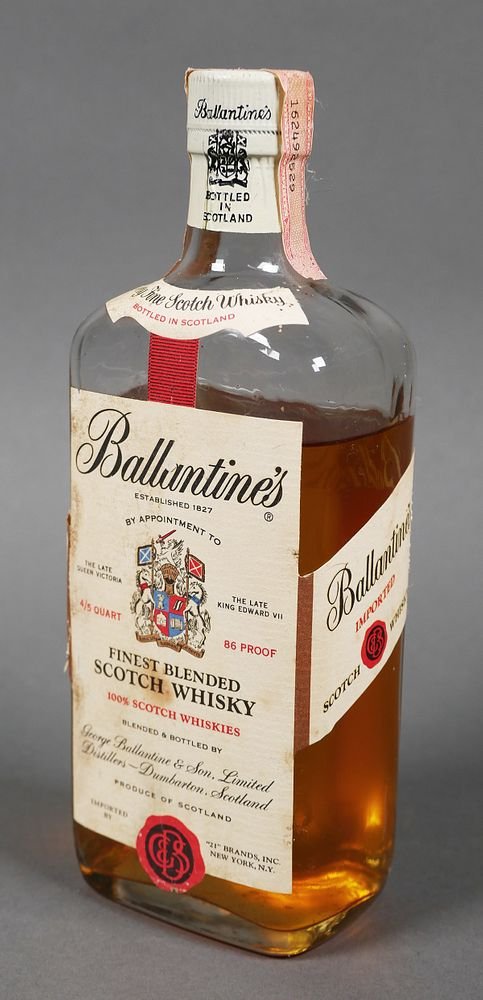 Mirror painting BALLANTINES Scotch Whiskey Scotland 1827 for wall