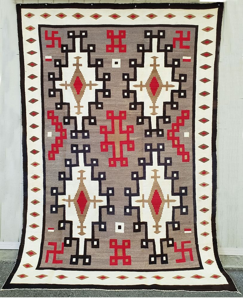 Large Early Crystal Trading Post Navajo Rug Sold At Auction On 3rd October Bidsquare