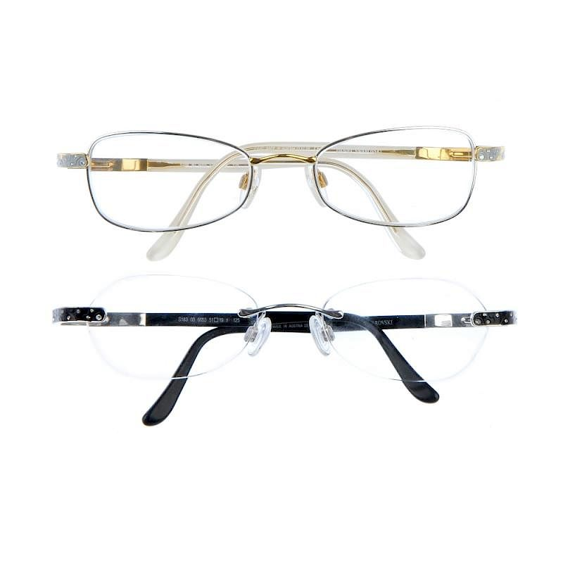 f932373550 DANIEL SWAROVSKI - two pairs of prescription glasses. To include a pair  designed with rimless frames by Fellows - 344467