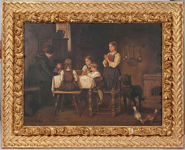 Genre Painting After Franz Defregger by Cowan's Auctions