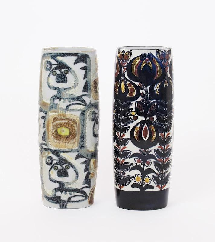 A Royal Copenhagen Fajance Cylinder Vase By Lb Model No7973101